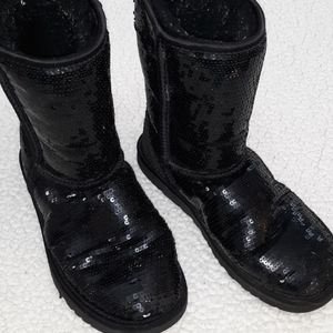 UGG Black Sequined Shearling Boots